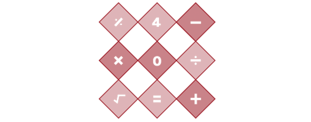 An icon depicting a grid with numbers and mathematical operators